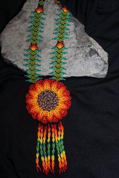 Huichol Peyote Beaded Necklace. $50.00, via Etsy.