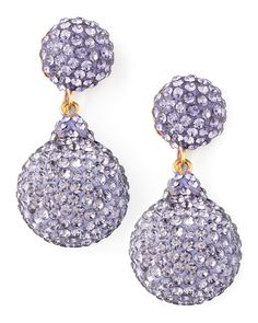 The glittering crystals of these Jose & Maria Barrera earrings frame your face with color and radiant light.
