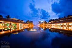 Front Pool in the evening  JW Mariott Phuket, Thailand