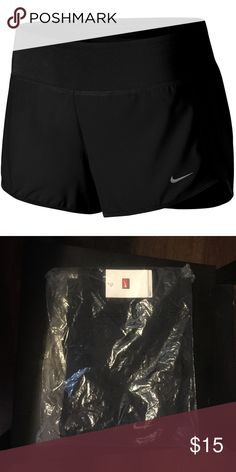 Nike Dri-Fit Performance Shorts NWT Product Details Blast through some easy miles in these women's Nike running shorts. Yoga spandex fit.  PRODUCT FEATURES Perfect for medium-impact exercise Moisture-wicking technology Stretchy side panels Reflective details  FIT & SIZING 3.75 in. inseam FABRIC & CARE Polyester Machine wash Imported Nike Shorts