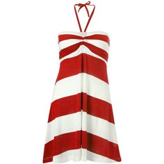 French Connection Sun & Sean Striped Beach Dress ($78) ❤ liked on Polyvore