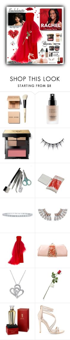 """""""Bachelorette """"What To Wear"""" for Rachel!"""" by jewelsinthecrown ❤ liked on Polyvore featuring Bobbi Brown Cosmetics, Ardell, Christian Siriano, Judith Leiber, Amanda Rose Collection, Hanky Panky, Cartier and Steve Madden"""