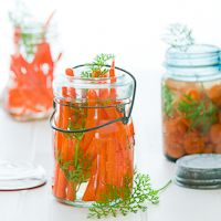 Vietnamese Style Pickled Carrots from Eating Local Cookbook- so fresh tasting