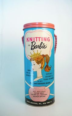 Vintage Knitting for Barbie Kit 1962. This would be so useful for the Knit for Barbie knitting book that I have.
