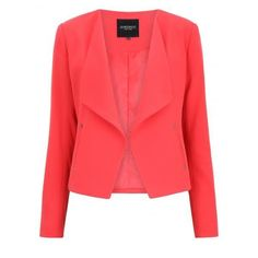 Freya Blazer ($63) ❤ liked on Polyvore featuring outerwear, jackets, blazers, red blazer and red jacket