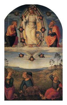 Perugino - Pala della Trasfigurazione.