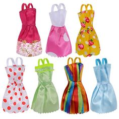 7Pack Barbie Doll Clothes Handmade Wedding Dress Party Gown Clothes Outfits for Girls Birthday Gift ** More info could be found at the image url.