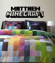 Matthews room  Minecraft Vinyl Wall Decal with Personalized by DazzlingDecals, $35.00