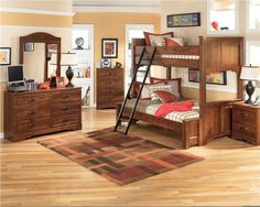 Ashley furniture kids bedroom sets - A kids room is usually more than just a place to sleep. This is a play area, too, and funky pops of color make the Wood Bedroom Sets, Boys Bedroom Furniture, Teen Furniture, Kids Bedroom Sets, Small Room Bedroom, Bedroom Ideas, Furniture Ideas, Childrens Bedroom, Ashley Furniture Kids