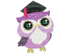 School Clipart Clip Art, Owl Graduation Clip Art, owl graduation, owl graphics - Personal and Commercial Use