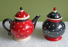 Pot with Lid and Sugar Bowl with Lid. Pottery Serving Dishes