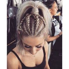 30 Amazing Braided Hairstyles for Medium Long Hair Delightful Braids ❤ liked on Polyvore featuring hair and hairstyles