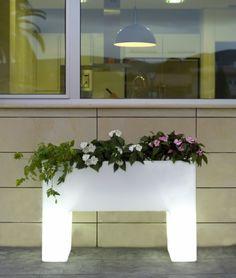 Plantenbak Malaga Wit Verlicht