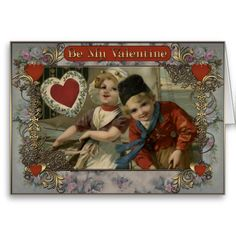 Valentines Day - Girl and boy from Holland. Valentines Day - Greeting Cards in Vintage Style Vintage Valentine Cards, Valentine Day Cards, Valentine's Day Greeting Cards, Holland, Vintage Style, Create Your Own, Best Gifts, Boys, Valentine Ecards