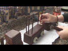 Pastel con forma de tren. Midulcecasa