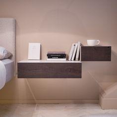 Comò e Comodini 36e8: soluzioni per la camera da letto   LAGO Design Cozy Bed, Sweet Style, Floating Nightstand, Home Interior Design, Home Projects, Master Bedroom, Sweet Home, Ikea, Room Decor