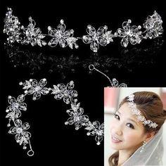 Дешевое Хрустальная корона невесты свадебные аксессуары для волос цветок голову диадемы, Купить Качество Украшения для волос - 415,80=