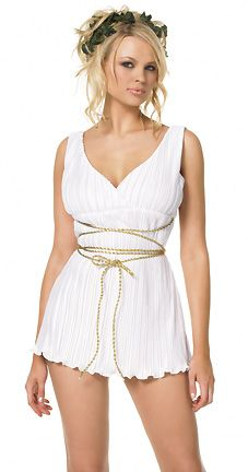 Captivating Greek Goddess Costume   Toga Costume For Women