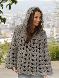 crochet pattern - hooded poncho