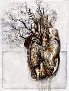 Nunzio Paci's Anatomical Art Explores The Relationship Between Man And Nature http://designwrld.com/nunzio-pacis-anatomical-art/