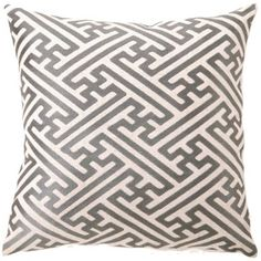 DL Rhein Cross Hatch Granite Embroidered Pillow