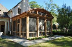 Oak and Copper Screened Porch