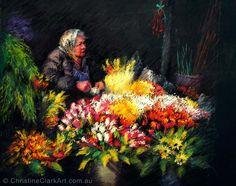 The Flower Seller A Day In Paris, Ice Cream Man, Clark Art, Vibrant Colors, Colours, Surfs Up, Masquerade, Pastel, Birds