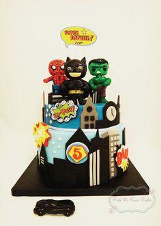 Superheros Cake Cake by CobiandCocoCakes