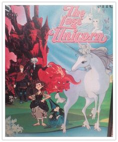 The Last Unicorn. 1980's fantasy movie based on the book. Anime. Cartoon animation. 80's video cassette.. $8.00, via Etsy.