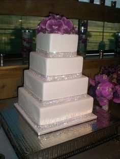 wedding cake by Intricate Icings Cake Design in Denver