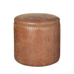 Costellini Leather Ottoman, Small