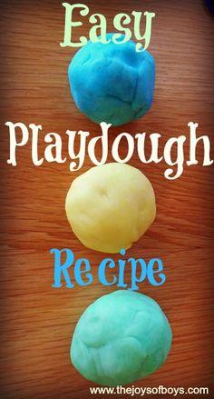 Easy Playdough Recipe – Never Buy Playdough Again | The Joys of Boys