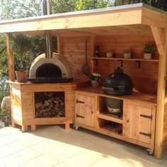 Outdoor Cooking Area, Outdoor Kitchen Patio, Outdoor Kitchen Design, Outdoor Living, Rustic Outdoor Kitchens, Big Green Egg Outdoor Kitchen, Outdoor Grill Area, Outdoor Oven, Design Kitchen