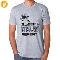 Party Eat Sleep Rave Repeat Design Large Herren T-Shirt (*Partner-Link)