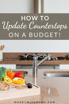 Make your kitchen look new when you use these frugal methods of updating your countertops. Great budget home improvement tips! Countertop Paint Kit, Painting Countertops, New Countertops, Butcher Block Countertops, Diy Kitchen Decor, Home Decor, White Kitchen Cabinets, Diy Home Improvement, Home Renovation