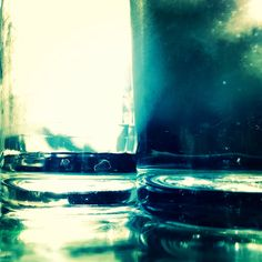 Abstract water glass