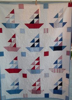 Dreamy Americana Sailboat Quilt By Dreamy Vintage Sheets On