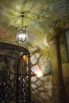 La Pedrera (Casa Mila) ~ light and shadows - Barcelona, Spain;  Antoni Gaudi