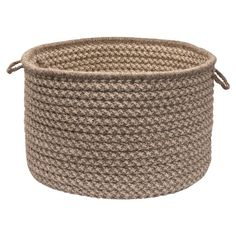Colonial Mills Natural Wool Houndstooth Utility Basket - HD32A014X010