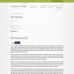 http://whatistradingforex.webnode.com/news/ufx-markets/  UFX Markets Review - Daveys Forex InfoBlog brings you the best forex broker reviews including this new review on the UFX Markets Company. Read more for more info.