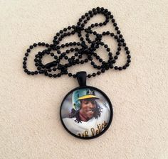 Oakland Athletics Jemile Weeks Necklace by QUEENBEADER on Etsy, $16.25