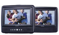 Axion AXN-7979 7-Inch Dual Screen Portable DVD Player, Black $86.39
