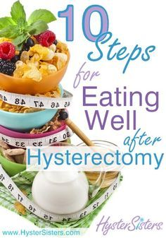 What are some tips for eating well after hysterectomy?