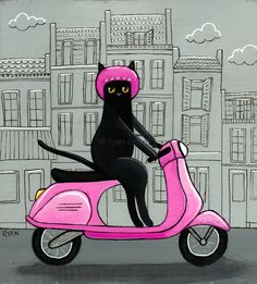 The Perfect World. Welcome \O/ - kilkennycat: Kitty on a Vespa