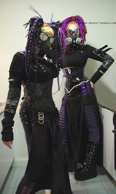 Cyber goths. Cyber goth is a subculture that derives from elements of cyberpunk, goth, raver, and rivethead fashion. Unlike traditional goths, Cybergoths follow electronic dance music more often than rock.