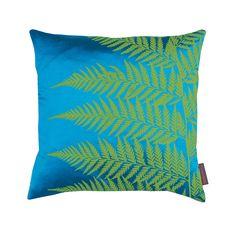 Clarissa Hulse - Lady Fern Cushion - 45x45cm - Kingfisher/Moss