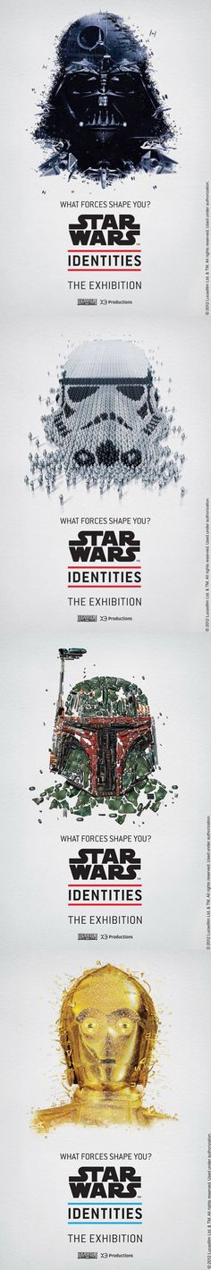 """Wonderful posters for the Star Wars exhibition at """"Centre des Sciences"""" Montreal (starts April 19th)"""
