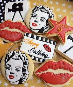 Marilyn Monroe themed cookies