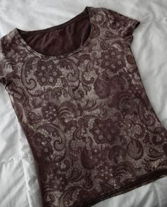 bleach lace tee
