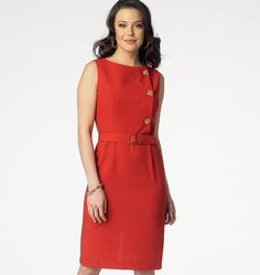 Misses' Dress and Belt, B6008 http://butterick.mccall.com/b6008-products-47984.php?page_id=147